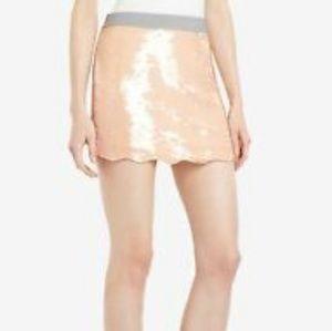 BCBGMaxAzria Sequined Rose Mikaela Mini Skirt XXS